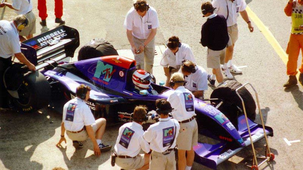 Roland Ratzenberger in seinem Simtek beim Training zum Großen Preis von Imola