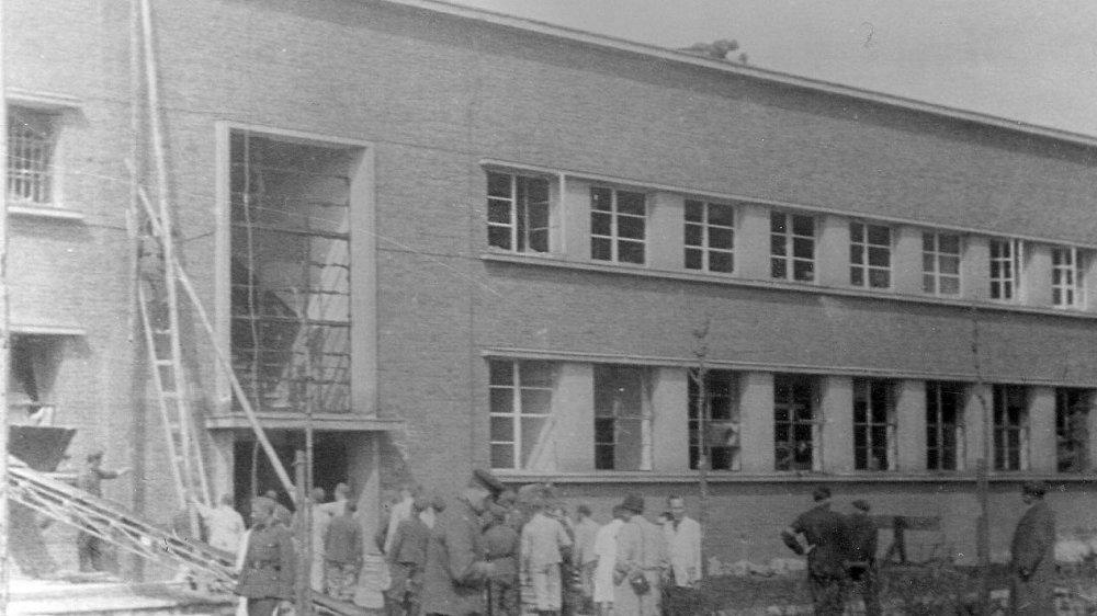 Zellwolle Bombenabwurf 1941