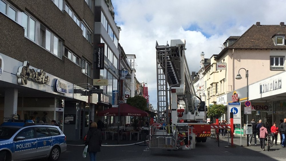 Einsatz der Feuerwehr in der Kaiserstraße 2016