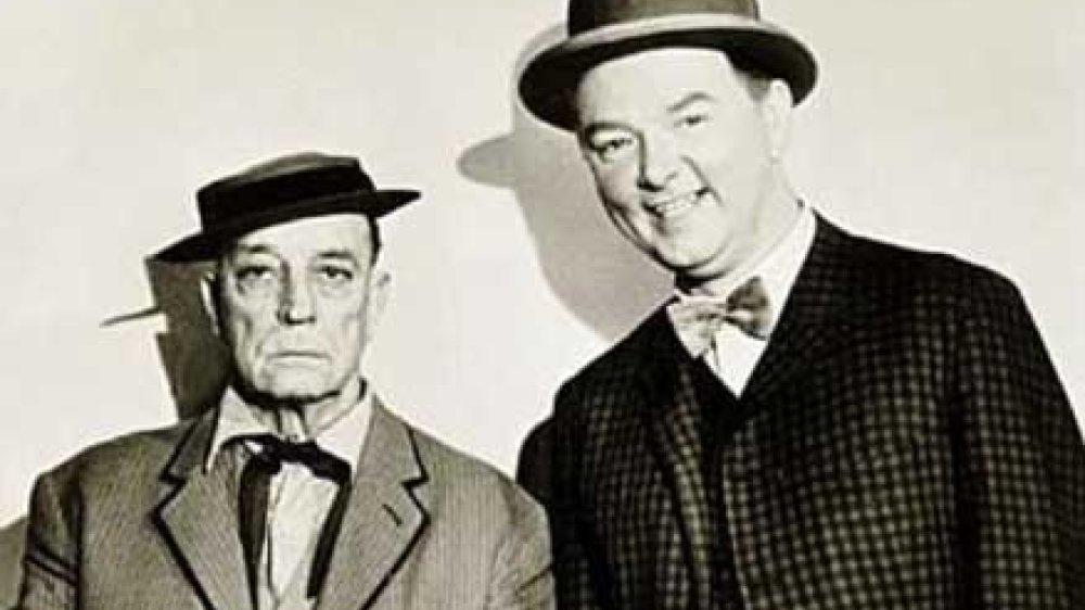 Buster Keaton und Werner Schwier