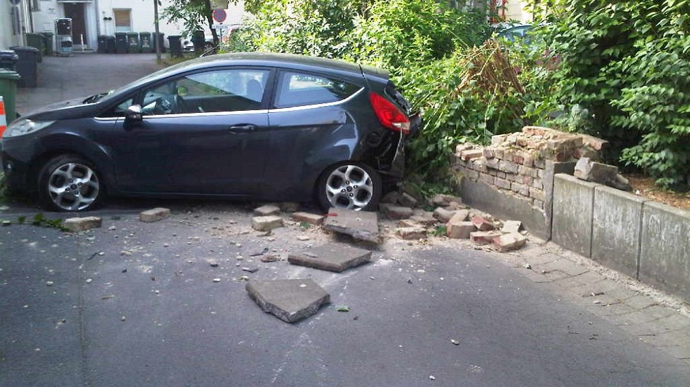 Unfall auf Allianz Parkplatz