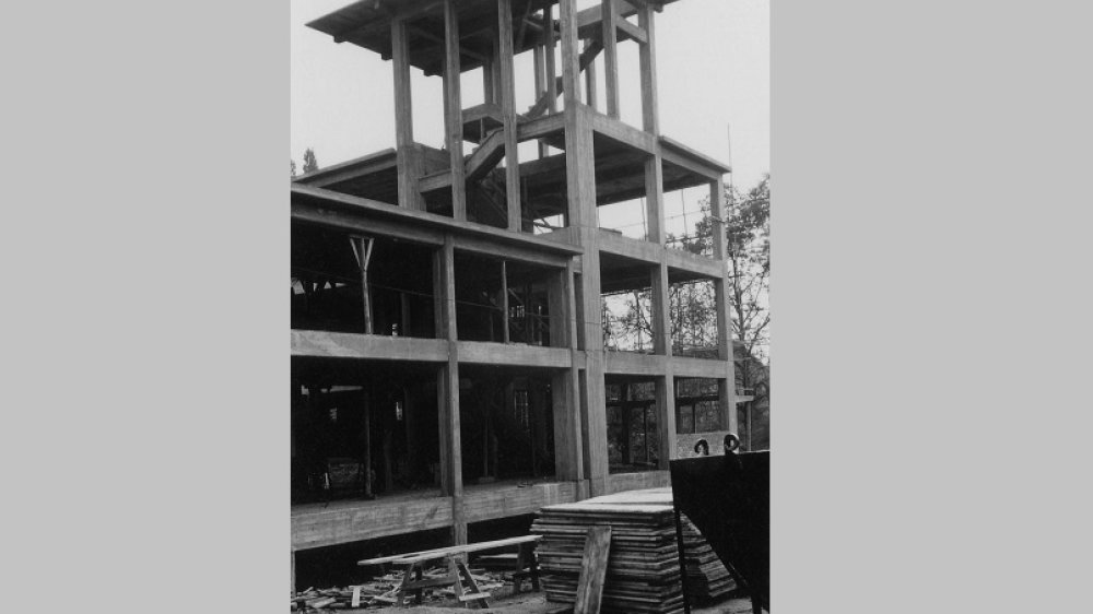 Baustelle Gymnasium Alleestraße 1956