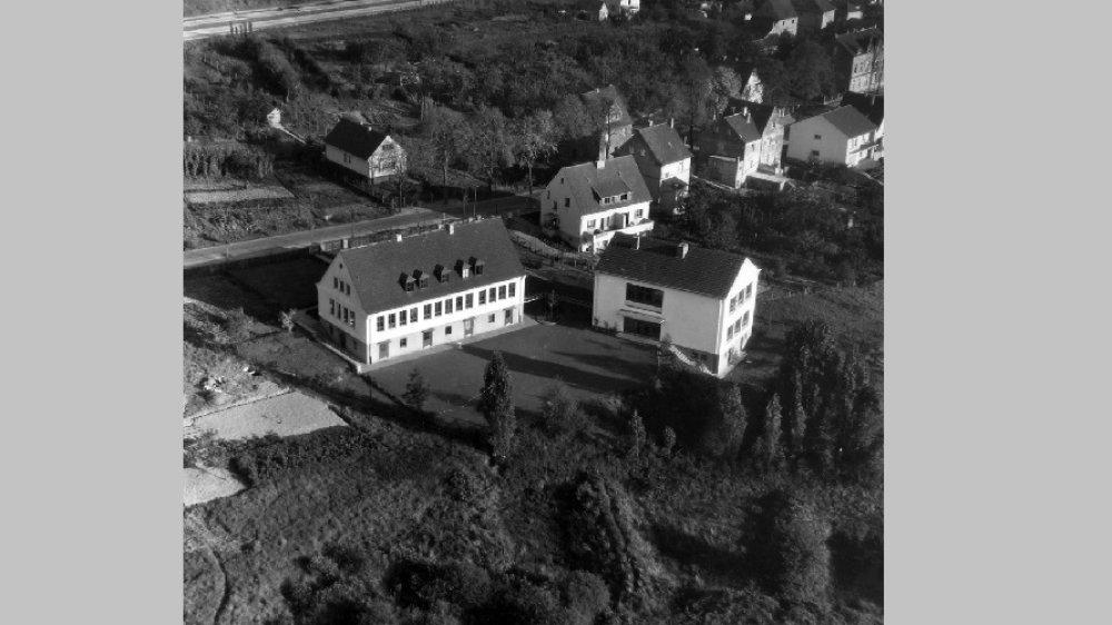 Schule Seidenbergstraße Anfang der 1960-er-Jahre