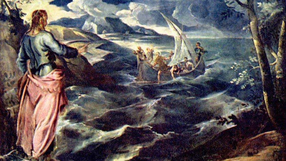 Christus am See Tiberias, Gemälde von Tintoretto um 1560