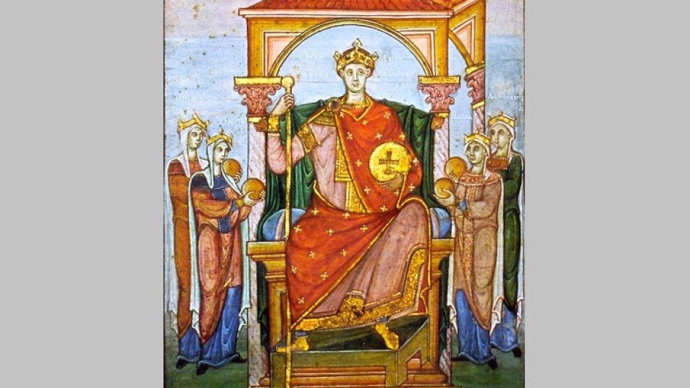 um 985 - Inthronisierung von Klein-Otto II.