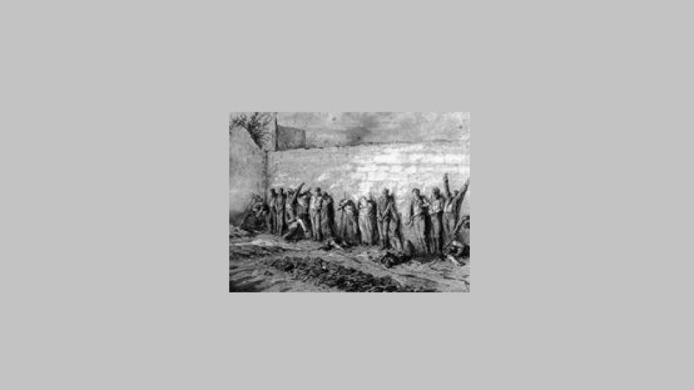 "Die ""Blutige Woche"" (""La semaine sanglante"") endet in Paris 1871"