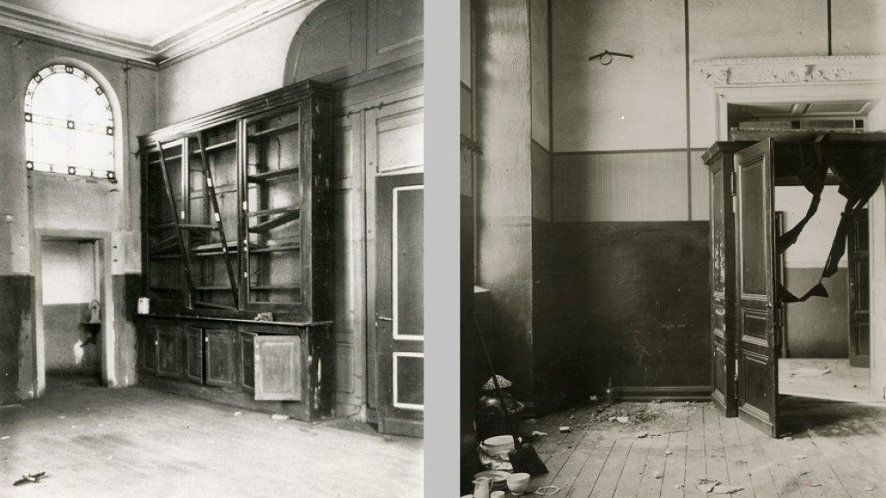 Die Schützenburg von innen 1926