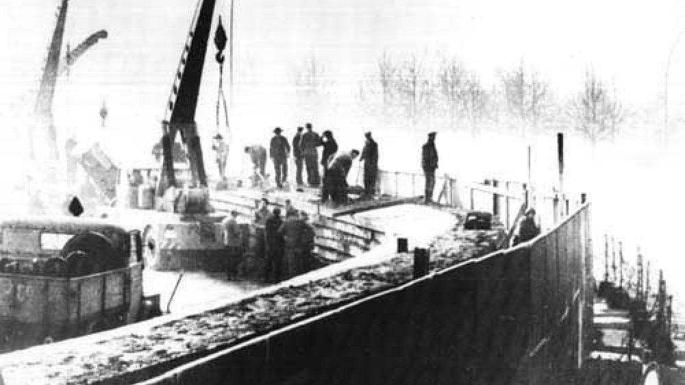 Mauerbau in Berlin, November 1961