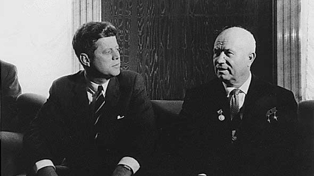 US-Präsident John F. Kennedy und Sowjet-Boss Nikita Chruschtschow 1961