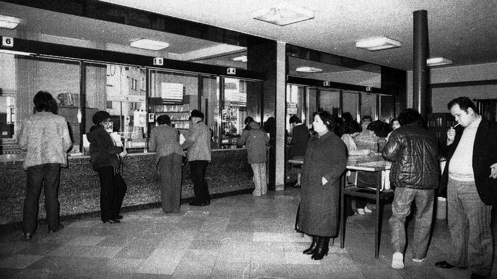 Postschalter Anfang der 1970er-Jahre