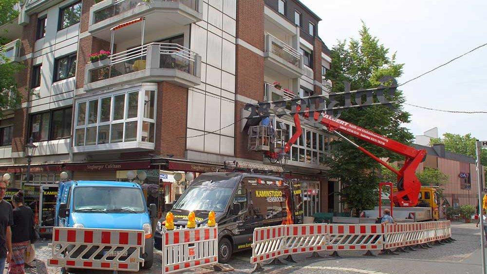 """Restaurant """"Tuscolo"""" an der Ecke Holzgasse/Scheerengasse"""