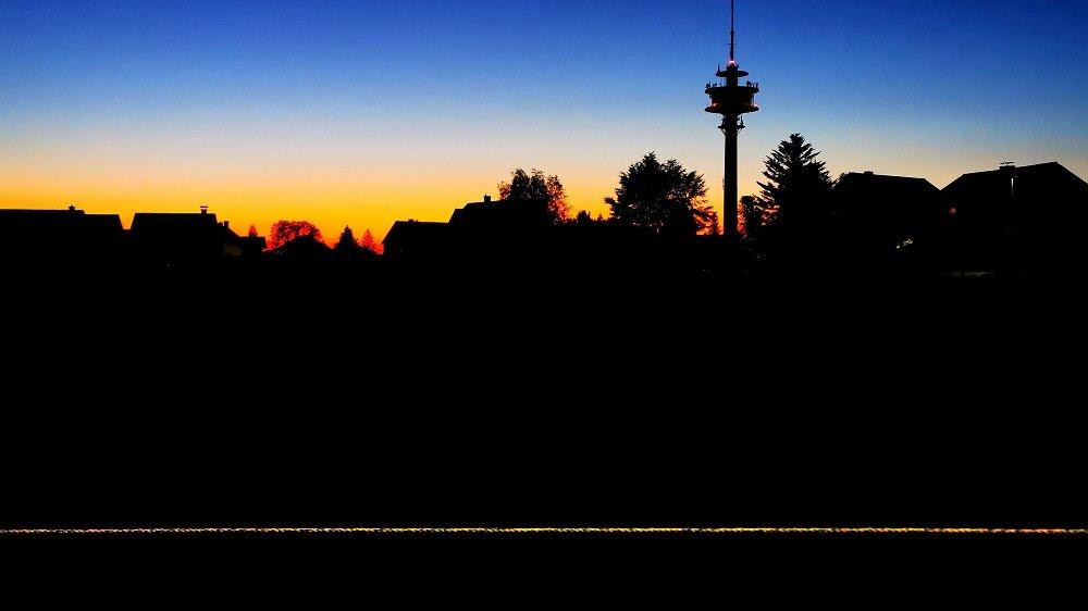 Schreck bei Sonnenuntergang