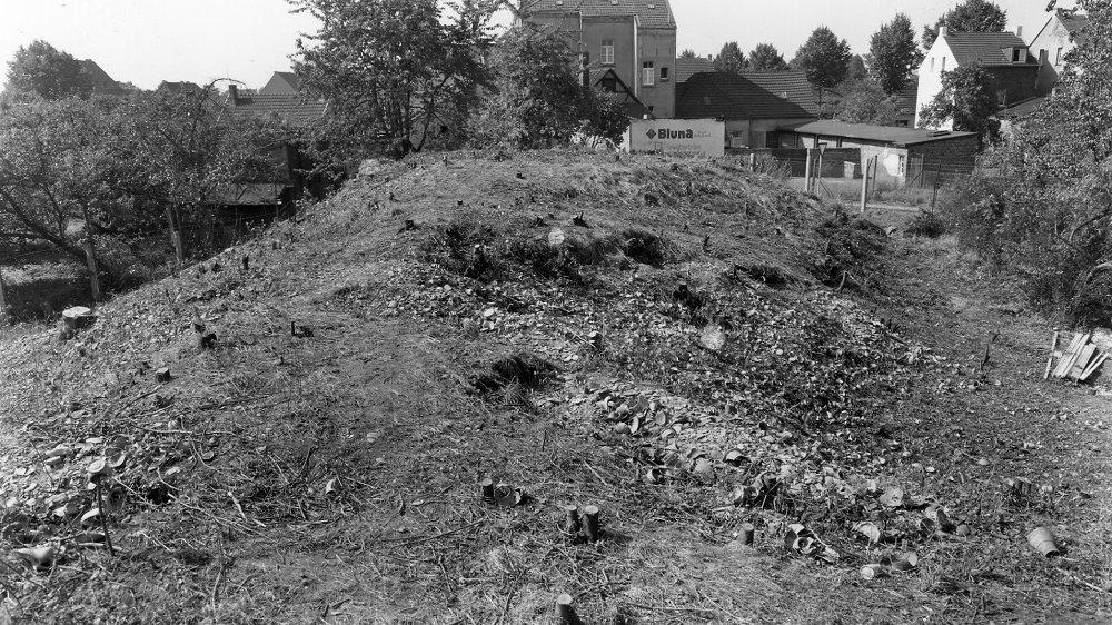 Schwarz-Weiß Abbildung vom Scherbenberg