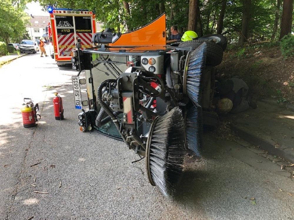 Unfall Kehrmaschine