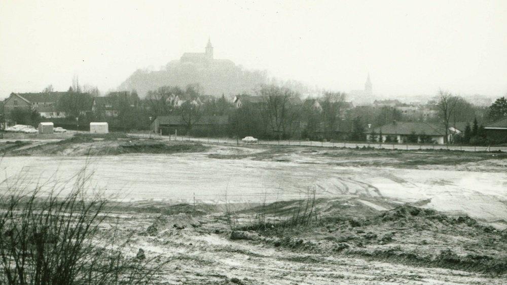 Bau vom Stadion