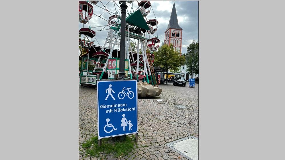 Fahrräder in der Fußgängerzone