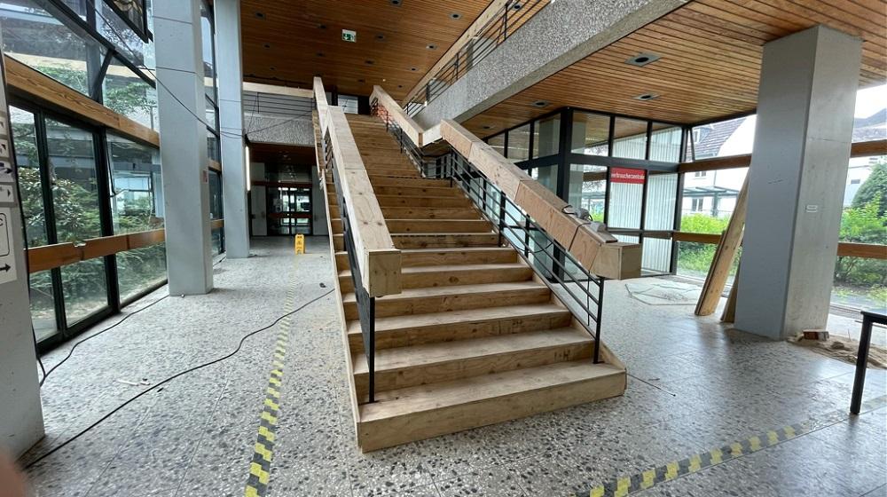 Verkleidete Treppe, die erhalten bleibt
