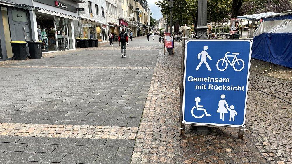 Scooter Fußgängerzone