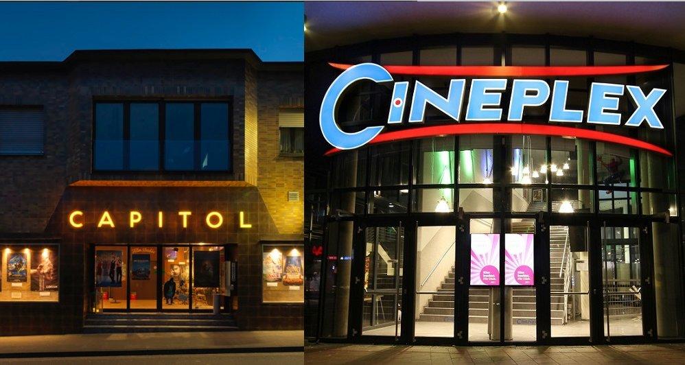 Capitol und Cineplex Nachtansicht